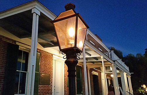 The Whaley House at night